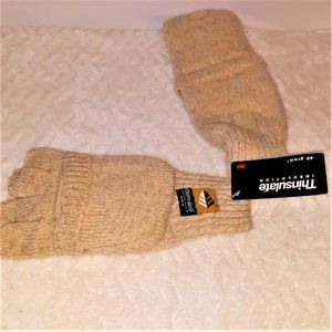 THINSULATE Wool Blend Mitten-Gloves-O/S